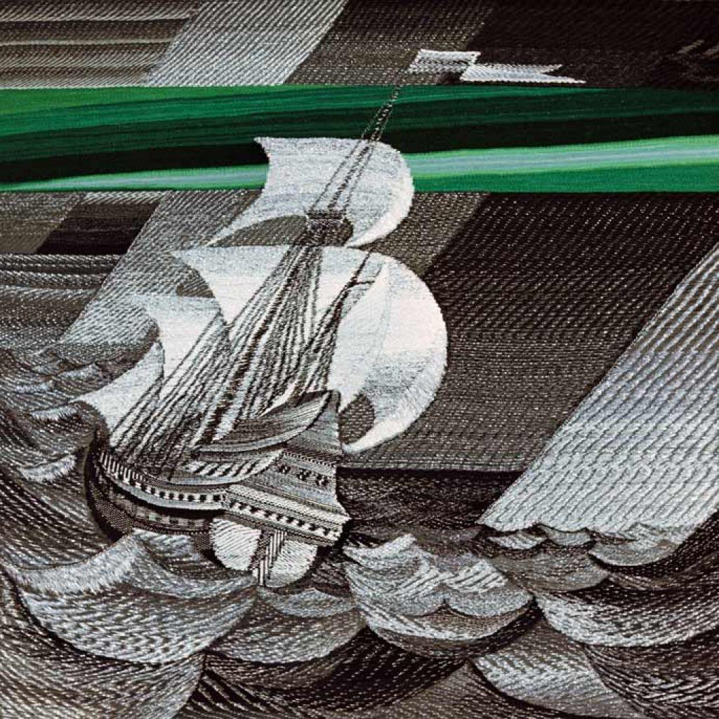 Борис Мигаль. ЗЕЛЁНЫЙ ЛУЧ. Гобелен, фрагмент, авторская техника. 1985-87